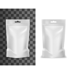 plastic sachet food product pouch bag doypack vector image