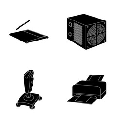 Power unit dzhostik and other equipment personal vector