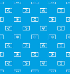 Program for video playback pattern seamless blue vector