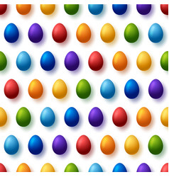 rainbow easter eggs seamless pattern happy easter vector image