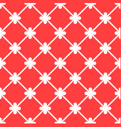 Red spanish ornamental ceramic tile vector
