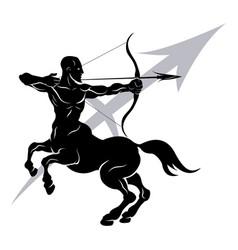 Sagittarius horoscope astrology sign vector
