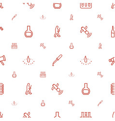 Science icons pattern seamless white background vector