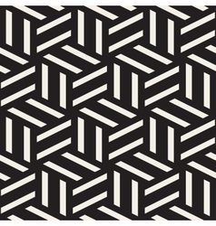 Seamless Black And White Rectangle Lines vector image