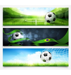 set football banners vector image