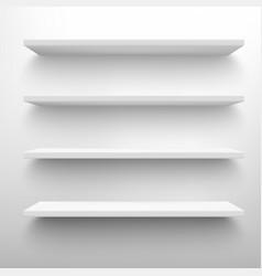 shop shelves realistic empty storage racks store vector image