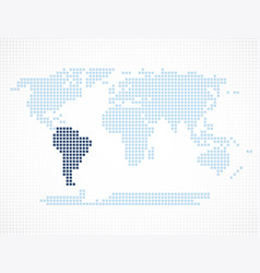 south america continent on the world map vector image