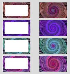 Spiral design business card frame set vector image