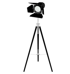 Spotlight on tripod vector image