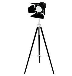 Spotlight on tripod vector