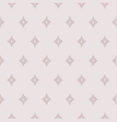 Subtle geometric seamless pattern with diamonds vector