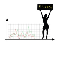 success girl silhouette vector image
