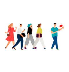 teamleader or influencer business concept vector image