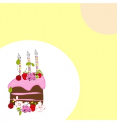 template for birthday card vector image
