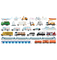 transportable vehicle set vector image
