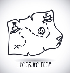 treasure map design vector image