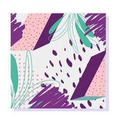 vintage memphis seamless pattern spot color 80s vector image