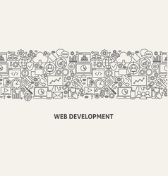 Web development banner concept vector