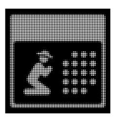 white halftone pray calendar icon vector image