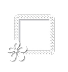 white square floral frame vector image