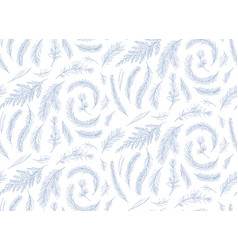 Winter hand drawn seamless pattern floral design vector