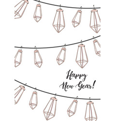 winter holidays design happy new year social vector image