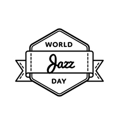World Jazz day greeting emblem vector image
