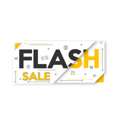 Yellow black and white sale banner layout price vector