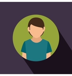 Young man avatar isolated icon vector