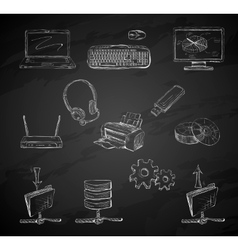 Business computer icons set vector image vector image