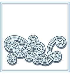 Decorative wave vector image