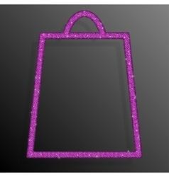 Pink Sequins Shopping Bag Glitter Sale offer vector image