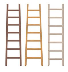 Wooden ladder set vector