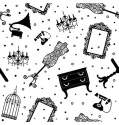 black vintage furniture vector image vector image