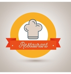 chef restaurant has an icon vector image