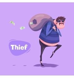Funny thief character Isolated vector image vector image