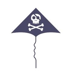 Jolly roger skull and cross bones pirate death vector image
