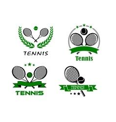 Set of Tennis badges or emblems vector image vector image