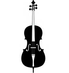 cello silhouette vector image vector image