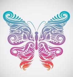 Decoration butterfly rainbow vector