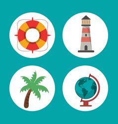 set vacations travel concept symbol vector image vector image