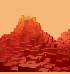 abstract landscape with colored vector image