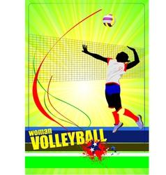 al 0445 woman volleyball 01 vector image vector image