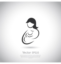 Mother and child icon or logo vector image vector image