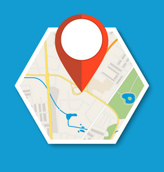 navigation geolocation icon vector image