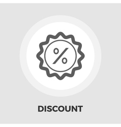 Percent label icon flat vector image vector image
