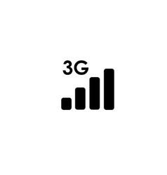 3 generation network vector image