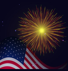 4th of july radiant golden fireworks vector image