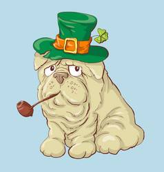 A cute st patrick s day funny vector