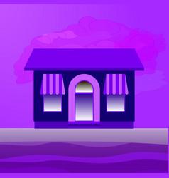 a single-storey building vector image